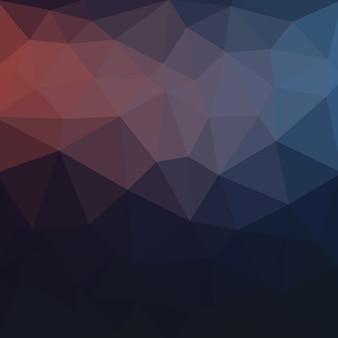 青い暗い低ポリクリスタルの背景