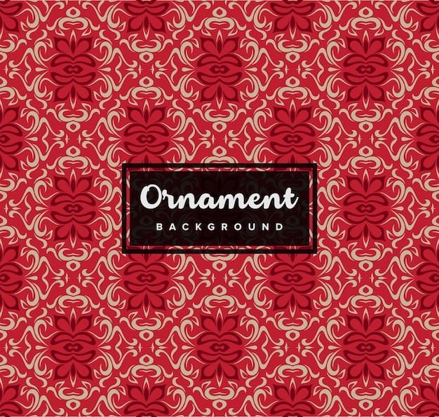 赤い色とシームレスな装飾的な装飾的な背景