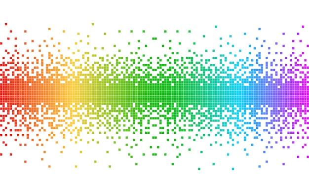 Абстрактные красочные пиксели