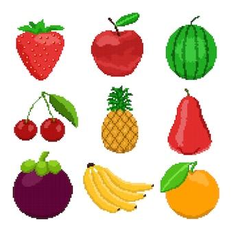 Пиксельные фрукты