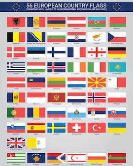 Европейские флаги стран