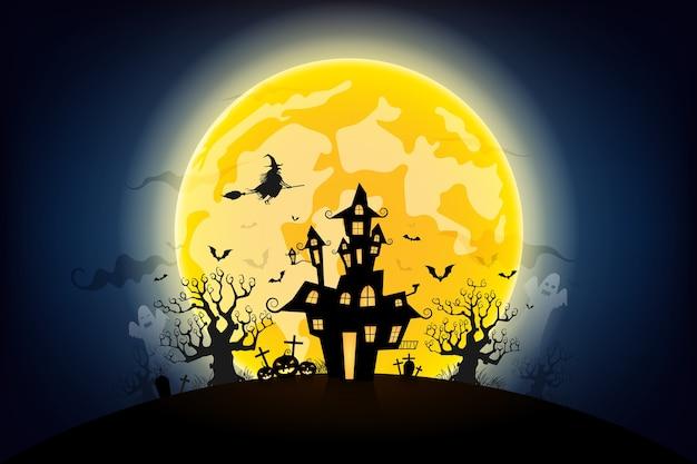 ハロウィンの夜の背景