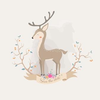 かわいい鹿