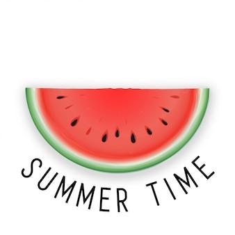 こんにちは夏のレタリングとスイカ