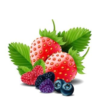 甘い果実のミックスを分離