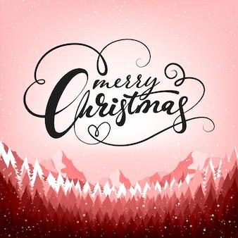 クリスマスポスターの背景