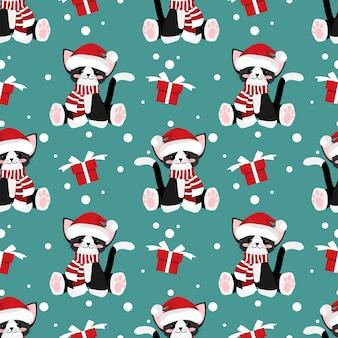 クリスマス休暇シーズンシームレスパターン。