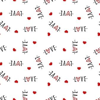 バレンタインデーのシームレスパターン