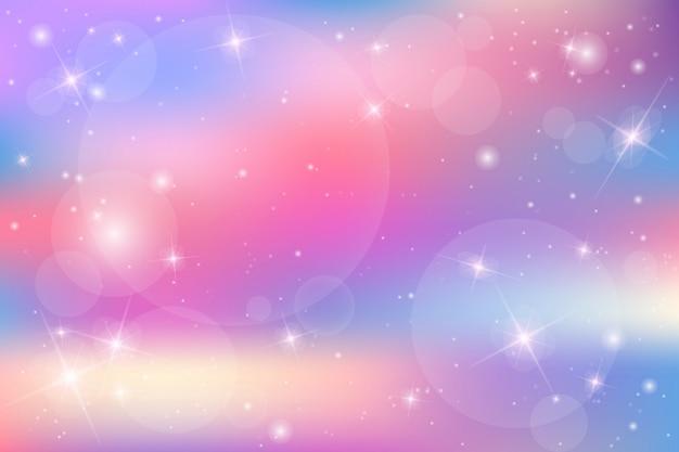 パステルカラーの銀河ファンタジー背景。