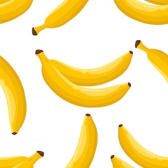 バナナのシームレスパターン。
