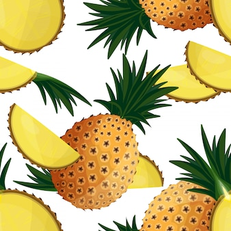 パイナップルのシームレスパターン。