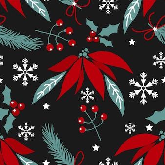 クリスマスの花の背景