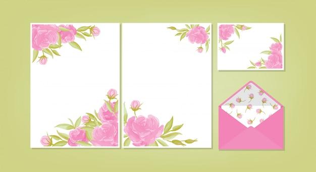 Цветочный фон шаблона коллекции.