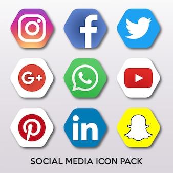 Пакет значков социальных сетей