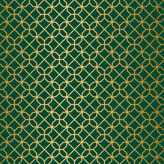 ゴールドグリーンの幾何学模様