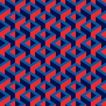 幾何学的なカラフルなキューブパターン