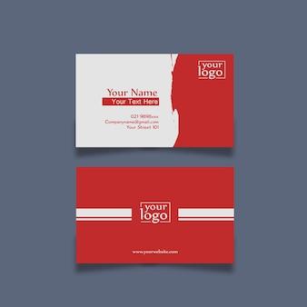 名刺デザインシンプルな赤