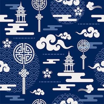 中国のシームレスなパターン。