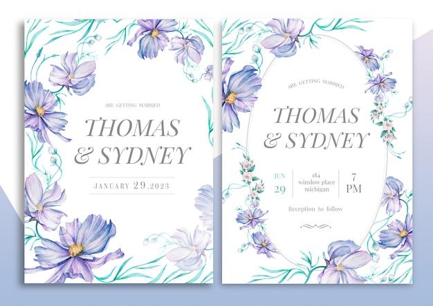 Ручной обращается цветочные свадебные приглашения