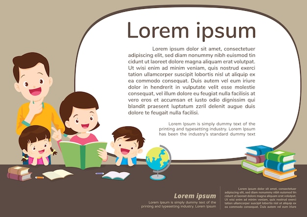 教育と学習、家族の背景を持つ教育概念