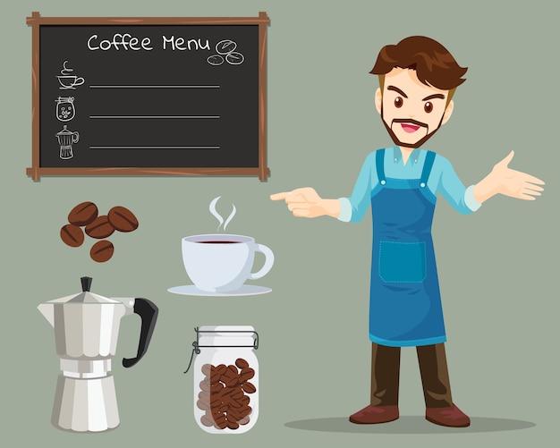 Человек кофе