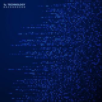 未来的な青い正方形の背景