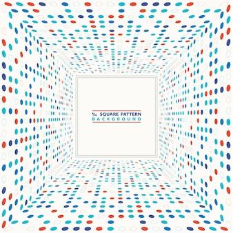 Абстрактный красочный круг полутоновых геометрических квадратный фон.