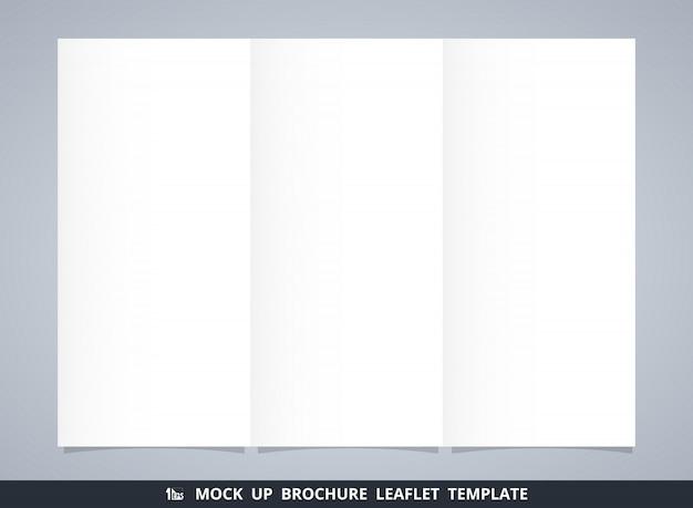 抽象的な白いパンフレットリーフレットテンプレートのモックアップ