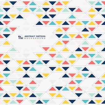 抽象的なカラフルな三角形パターンデザインの背景