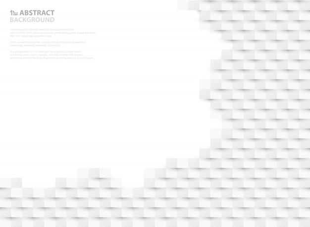 Абстрактная белая бумага вырезать дизайн фона открытого пространства.