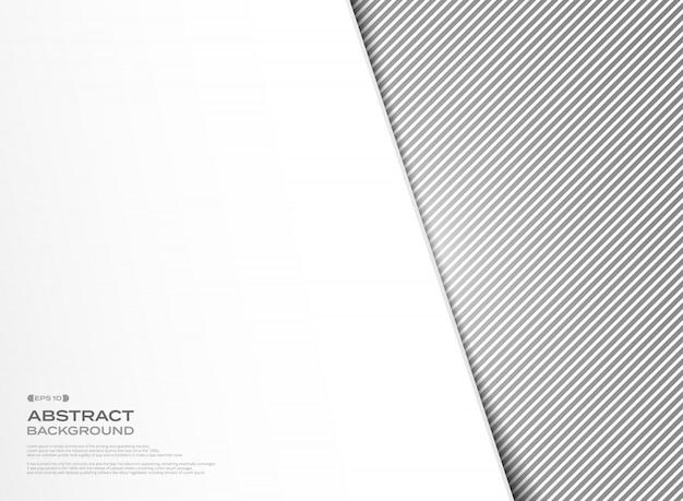 白いカバーの背景を持つ抽象のブラックストライプラインパターンデザイン。
