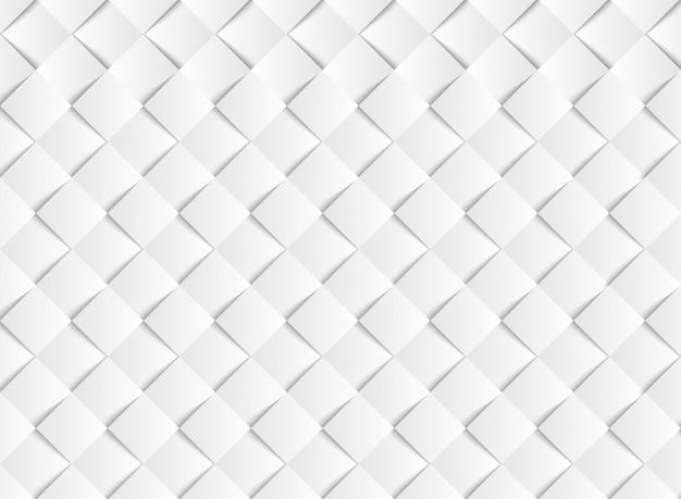 抽象的なグラデーションホワイトベクトルスクエアペーパーカットパターン背景。