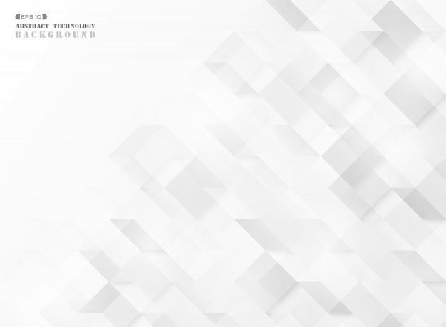 抽象的な正方形の幾何学的なキューブパターン技術。