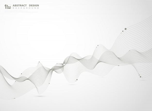 要素の背景の抽象的なゴールドカラーライン波状デザイン