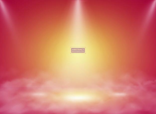 抽象的なグラデーションピンクイエロー色の背景