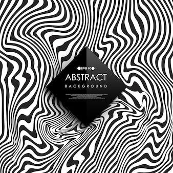 抽象的な黒と白の無料線背景