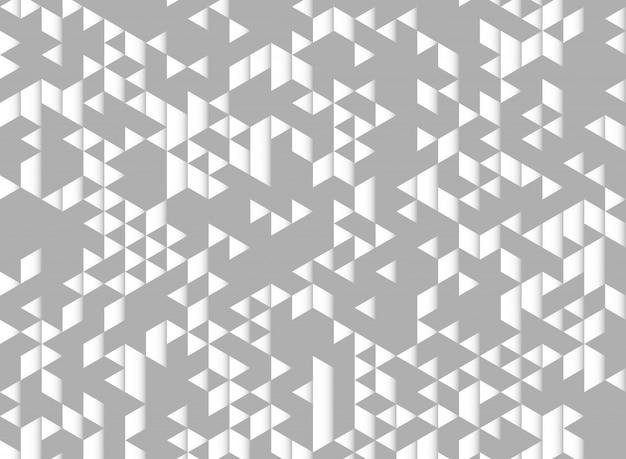 抽象的な三角形モダンなデザインのグレーと白の背景