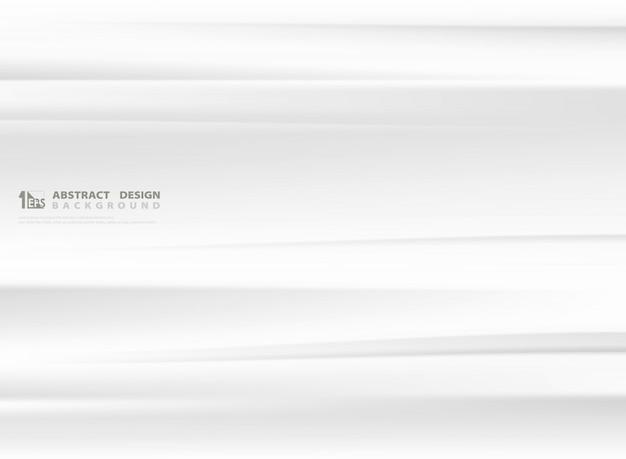 抽象的なグラデーションの白とグレーの色メッシュ波状の背景。