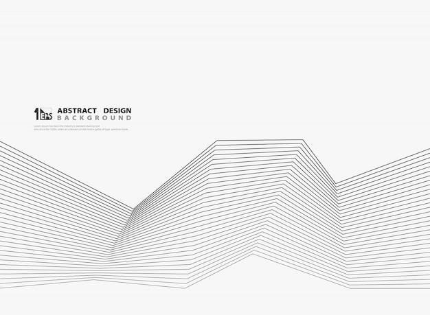 Абстрактная современная черная линия на белом фоне.