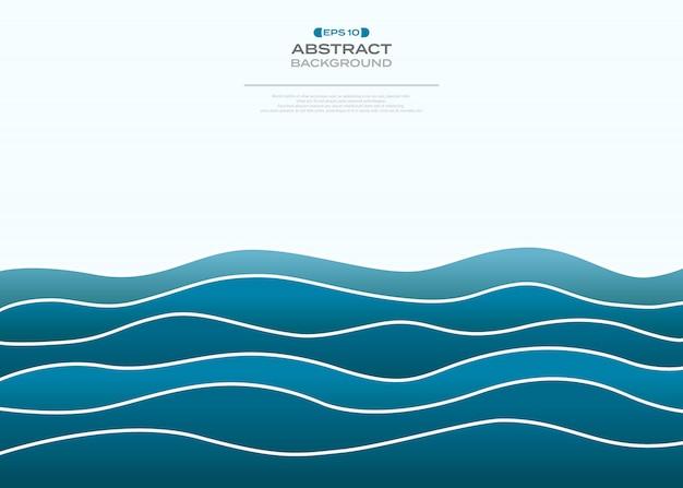 単純なグラデーションアート波状海の抽象化の背景。