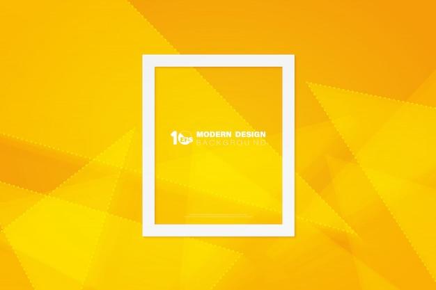 幾何学的設計技術テンプレートの背景の抽象的な黄色の三角形。