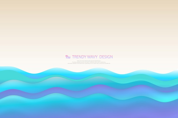 海の背景の青いレベルの抽象的な自然海岸海波状層。
