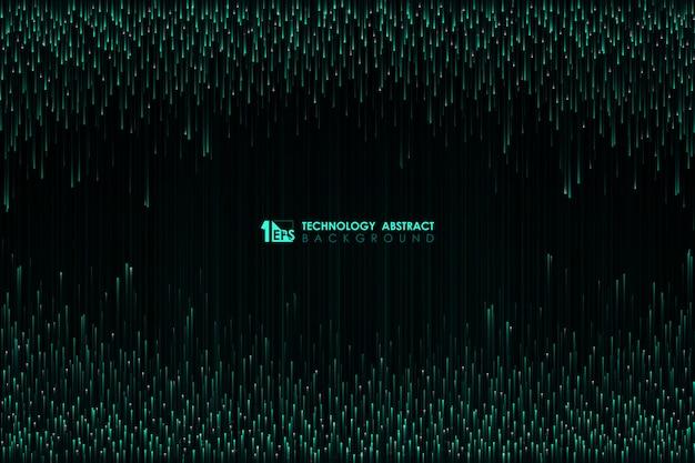 センターバックグラウンドでハイテクデザインパターンの抽象的な緑線。
