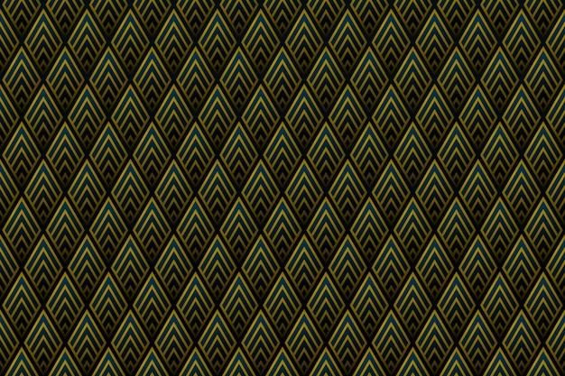 Абстрактный градиент золотой квадратный узор фона королевского дизайна.