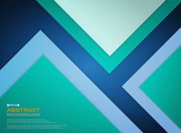 グラデーショングリーンの青い紙は、影と背景をカットします。