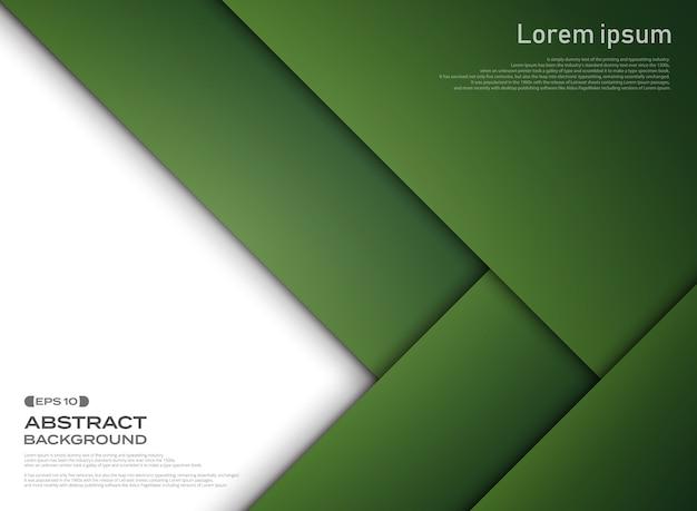 グラデーショングリーンペーパーのカットパターンの背景の概要。