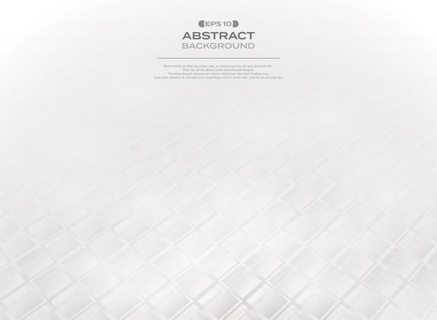勾配灰色の白い正方形のパターンの要約