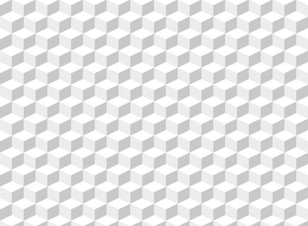 正方形のキューブパターンの背景の要約。
