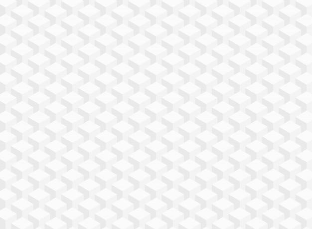 白い灰色の幾何学的な立方体パターンのデータ背景の要約。