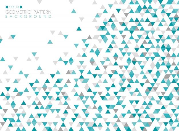 Аннотация синий треугольник геометрический рисунок фона обложки.
